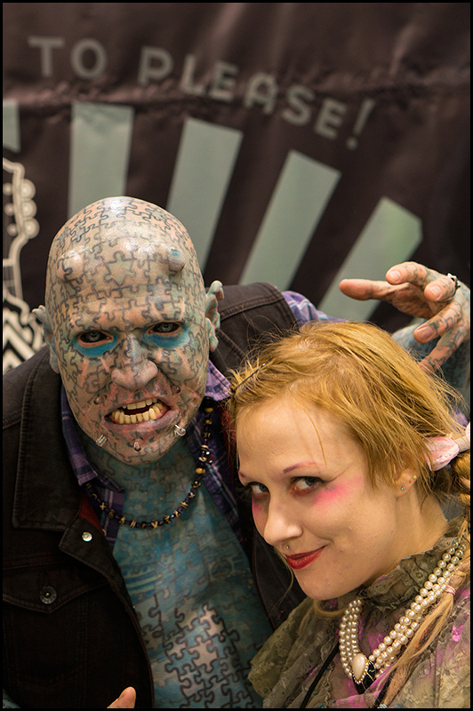 The great Enigma with the lovely Serana Rose. True friends of Hell!